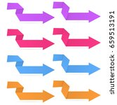 colored arrows. origami folded... | Shutterstock .eps vector #659513191