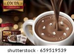 hot chocolate drink ad  with... | Shutterstock .eps vector #659519539