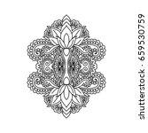 vector oriental ornament ...   Shutterstock .eps vector #659530759