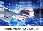 business handshake as symbol...   Shutterstock . vector #659536219