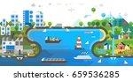 ecology concept. environmental... | Shutterstock .eps vector #659536285