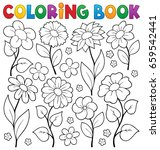 coloring book flower topic 3  ... | Shutterstock .eps vector #659542441