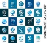 vector logo globe | Shutterstock .eps vector #659547109