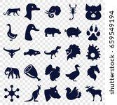 Animal Icons Set. Set Of 25...