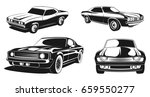 monochrome illustration set of... | Shutterstock .eps vector #659550277