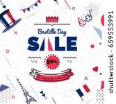 bastille day  sale vector... | Shutterstock .eps vector #659553991