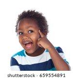 adorable afroamerican child... | Shutterstock . vector #659554891