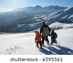 kids running downhill on a... | Shutterstock . vector #6595561
