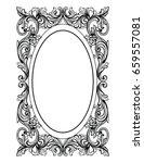 vintage mirror oval frame.... | Shutterstock .eps vector #659557081