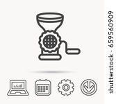 meat grinder icon. manual... | Shutterstock .eps vector #659560909