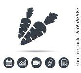 carrot icon. fresh natural... | Shutterstock .eps vector #659563987