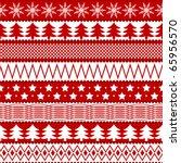 christmas seamless texture in... | Shutterstock . vector #65956570