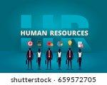 business hr concept. human... | Shutterstock .eps vector #659572705