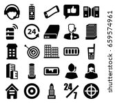 center icons set. set of 25... | Shutterstock .eps vector #659574961