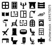 interior icons set. set of 25... | Shutterstock .eps vector #659575075
