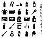 plastic icons set. set of 25...   Shutterstock .eps vector #659575189