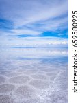 Small photo of Salar de Uyuni salt white flats desert, Andes Altiplano, Bolivia
