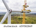 aerial view of wind turbine... | Shutterstock . vector #659582869