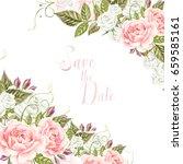 beautiful  wedding card ... | Shutterstock . vector #659585161