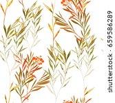 Imprints Herbarium With Berrie...