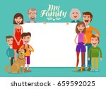 big happy family  banner....