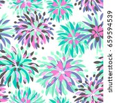 abstract seamless floral... | Shutterstock .eps vector #659594539