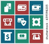 credit icons set. set of 9... | Shutterstock .eps vector #659598205