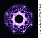 abstract purple neon shape ... | Shutterstock . vector #659602969