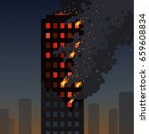Fire Of The Skyscraper On A...