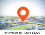 3d map of city with navigator... | Shutterstock . vector #659615209