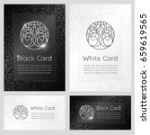 black and white vintage banners ... | Shutterstock .eps vector #659619565