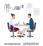 concept for office romance ... | Shutterstock . vector #659620534