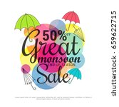 illustration sale banner sale... | Shutterstock .eps vector #659622715