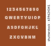 alphabets set vector...   Shutterstock .eps vector #659624341