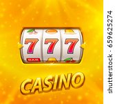 golden slot machine wins the...   Shutterstock .eps vector #659625274