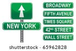 New York Street Signs. Vector...