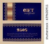 gift certificate or voucher... | Shutterstock .eps vector #659630911