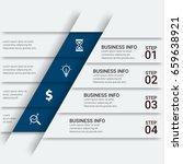 infographics template  | Shutterstock .eps vector #659638921