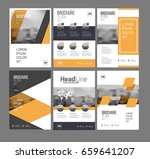 six flyer marketing templates... | Shutterstock .eps vector #659641207