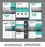 six flyer marketing templates... | Shutterstock .eps vector #659641264