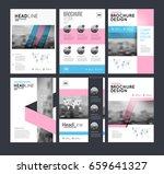 six flyer marketing templates...   Shutterstock .eps vector #659641327