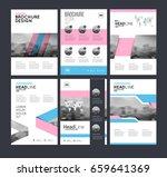 six flyer marketing templates... | Shutterstock .eps vector #659641369