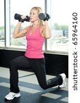 middle aged woman working out... | Shutterstock . vector #65964160