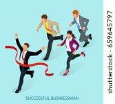 isometric people. entrepreneur... | Shutterstock .eps vector #659645797
