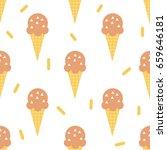 scandinavian ice cream seamless ... | Shutterstock .eps vector #659646181