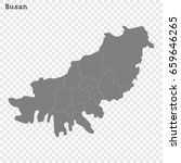 high quality map of busan is a... | Shutterstock .eps vector #659646265