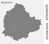 high quality map of bangalore... | Shutterstock .eps vector #659648209