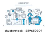 office study  search research ... | Shutterstock .eps vector #659650309