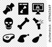 bone icons set. set of 9 bone...   Shutterstock .eps vector #659665669
