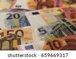unsorted euro banknotes  new... | Shutterstock . vector #659669317